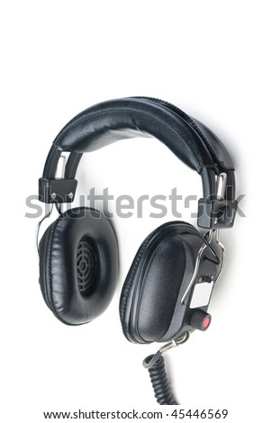 Headphones. Isolated on white background.