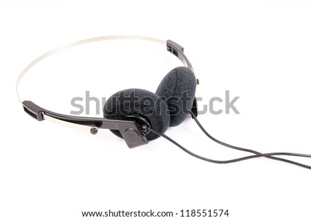 headphones isolated over white / headphones