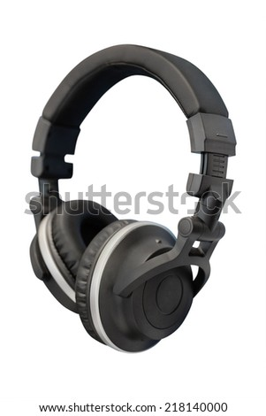 headphones isolated under the light background