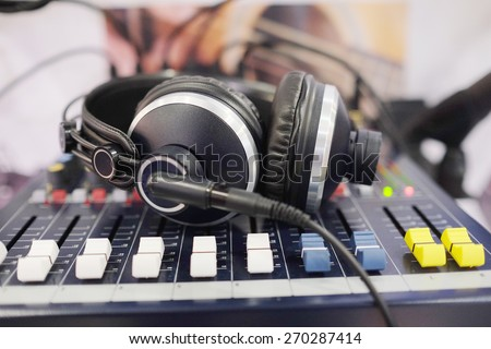 Headphones isolated under the white background  - stock photo