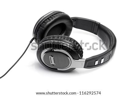 headphones on a white - stock photo