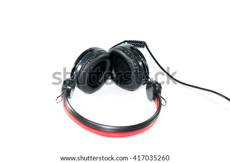 headphones on isolate white background - stock photo