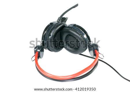 headphones on isolate white background.This has clipping path - stock photo