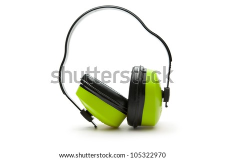 Headphones on the white background