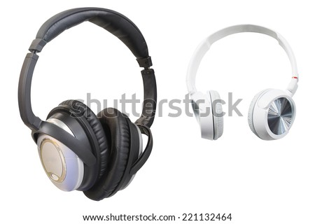 headphones under the light background