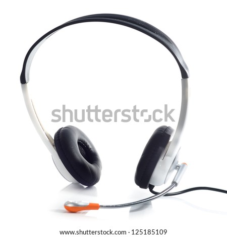 headset isolated on a white background