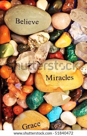 Healing Stones - stock photo