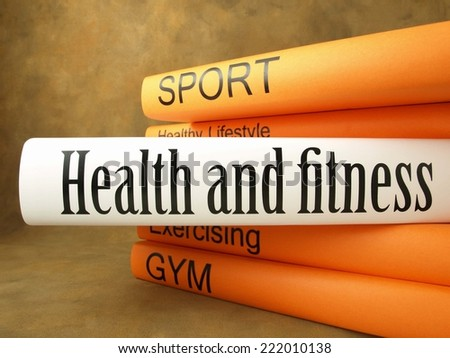 Health and fitness (book titles) - stock photo