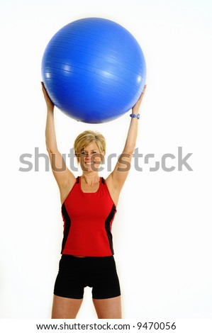 Health and Fitness Woman with Exercise Ball