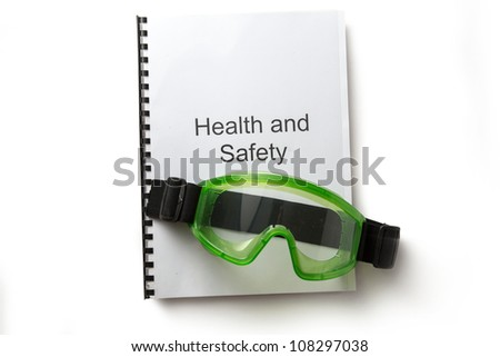 Health and safety register with goggles