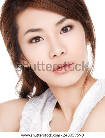 health beauty of a smile woman face - stock photo
