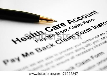 Health care account - stock photo