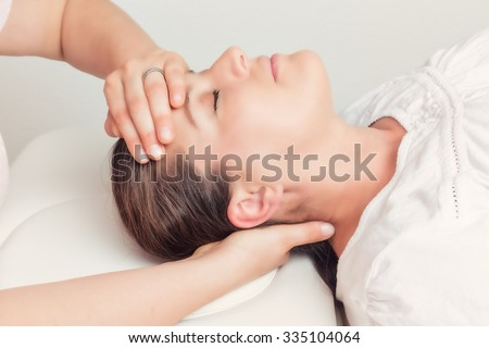 health care - osteopathy - stock photo