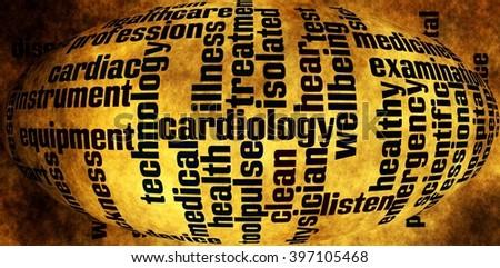 Health care word cloud - stock photo