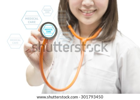 health check up with doctor  - stock photo