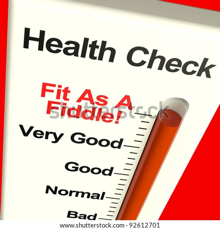 Health Check Very Fit Measured With A Big Gauge