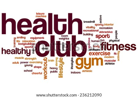 Health club word cloud concept - stock photo