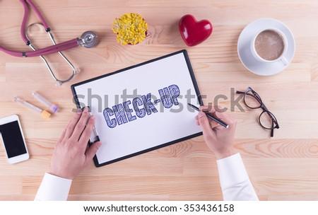 Health Concept: CHECK-UP - stock photo
