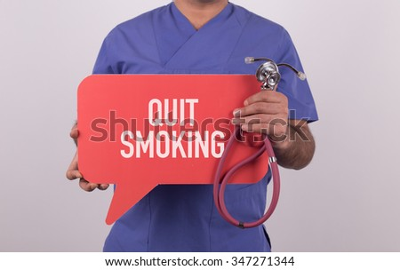 Health concept - QUIT SMOKING - stock photo