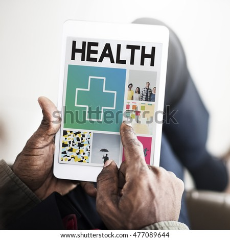 Health Happy Cross Thumbsup Concept