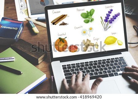 Health Healthcare Lyfestyle Natural Vitamins Concept - stock photo