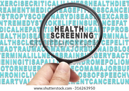 Health Insurance conceptual focusing on Health Screning - stock photo