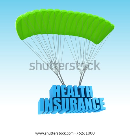 Health Insurance 3d concept illustration - stock photo