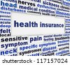 Health insurance medical message background. Health care poster conceptual design - stock photo