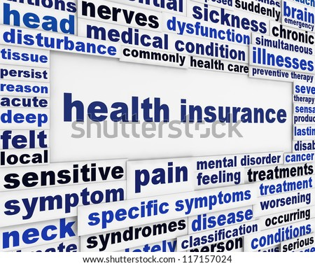 Health insurance medical message background. Health care poster conceptual design