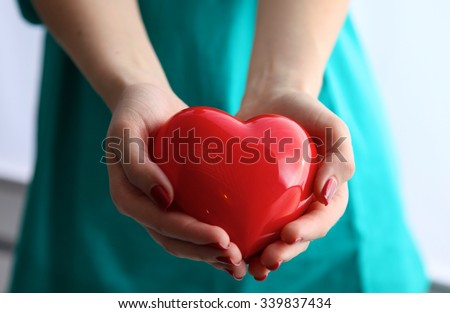 Health insurance or love concept - stock photo
