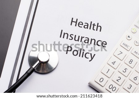 Health Insurance Policy - stock photo