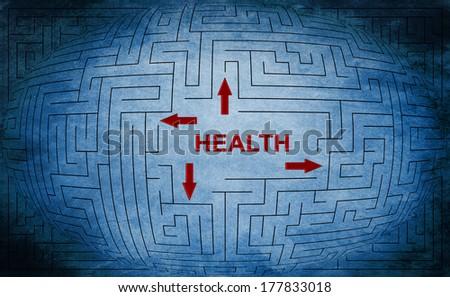 Health maze concept - stock photo