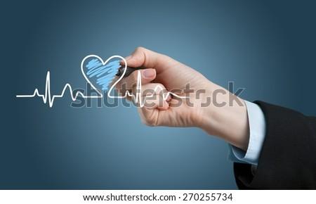 Health. Medicine, Hand drawing - stock photo