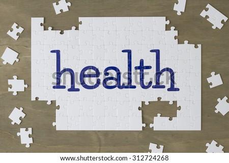 health puzzle - stock photo