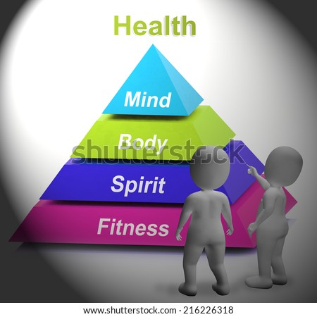 Health Symbol Showing Fitness Strength And Wellbeing - stock photo