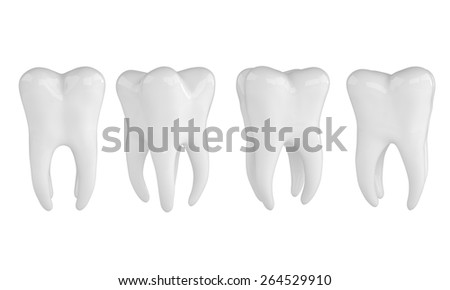 Health Tooths on white background - stock photo