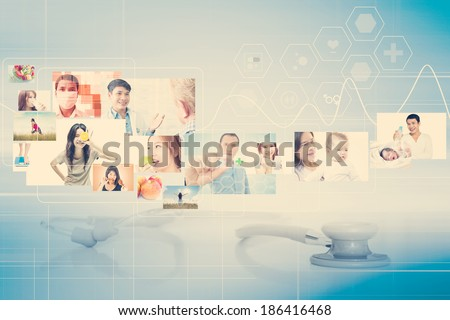Healthcare And Medical Concept Background - stock photo