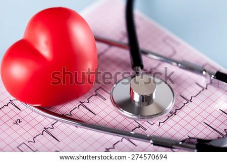 Healthcare And Medicine, Human Heart, Heart Shape. - stock photo