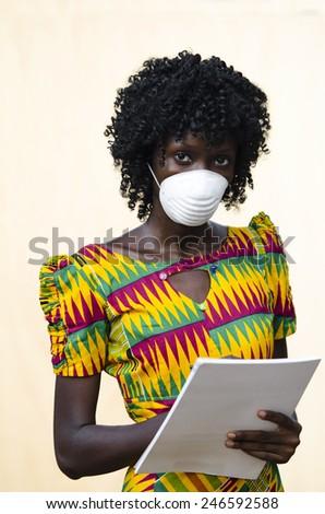 Healthcare Symbol: Ebola Filovirus Spreading in Africa - stock photo