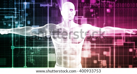 Healthcare Technology and Medical Scan of a Body Diagnosis 3D Illustration