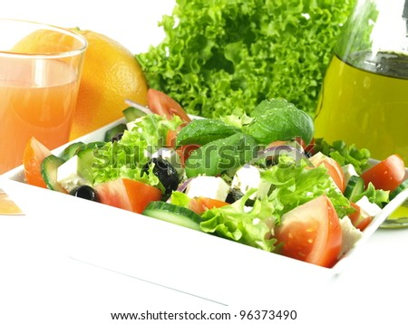 Healthy and nutritional mediterranean cuisine for your diet - stock photo