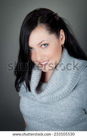 healthy and smiling woman - stock photo