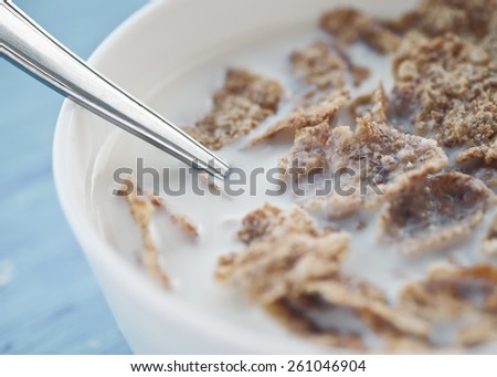 Healthy And Tasty Cereals In Macro - stock photo