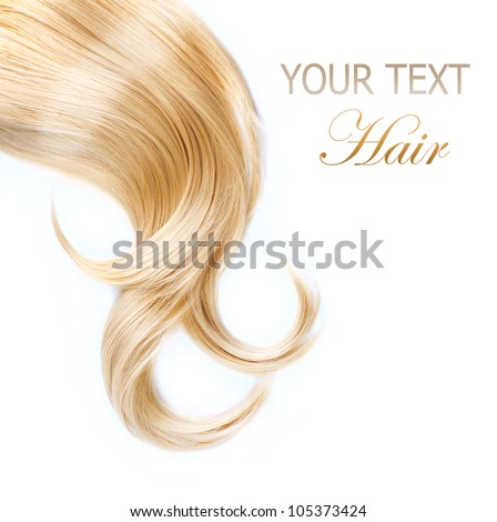 Healthy Blond Hair isolated on white - stock photo