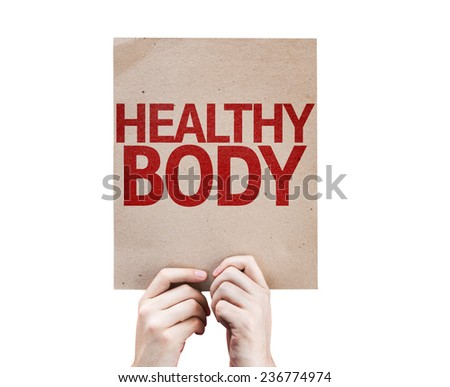 Healthy Body card isolated on white background - stock photo