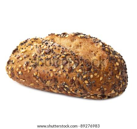 healthy bread isolated - stock photo