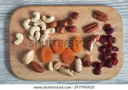 Healthy breakfast is to cleanse the body and reduce cholesterol, top view - stock photo