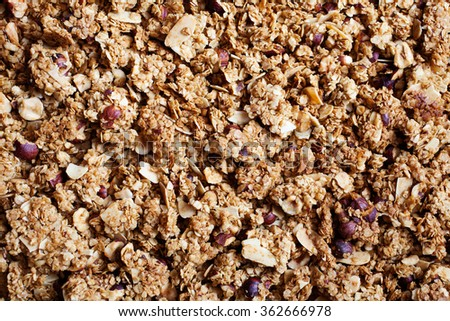 Healthy breakfast with yogurt, granola and fresh berries - stock photo