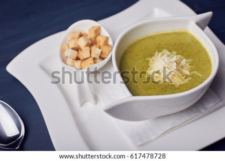 Healthy cream soup RAW food. Diet soup