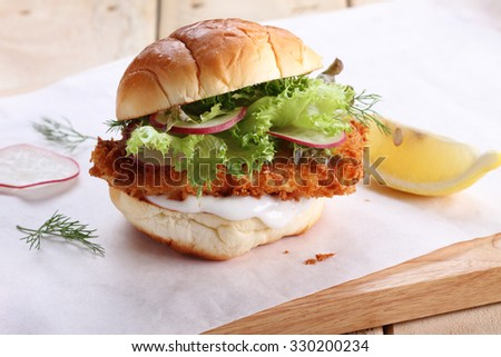 healthy crispy fish burger
